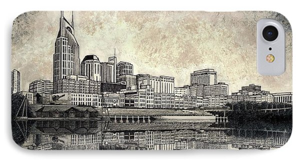 Nashville Skyline II IPhone Case by Janet King
