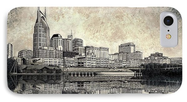 Nashville Skyline II IPhone Case by Janet King