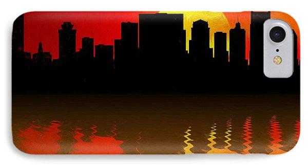 Nashville Skyline Sunset Reflection IPhone Case by Dan Sproul