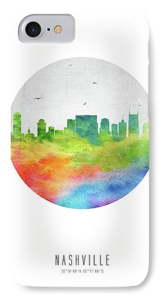Nashville Skyline Ustnna20 IPhone Case by Aged Pixel