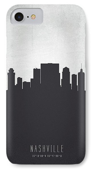 Nashville Tennessee Cityscape 19 IPhone 7 Case by Aged Pixel