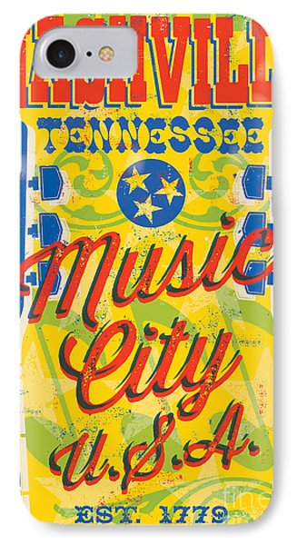 Nashville Tennessee Poster IPhone 7 Case