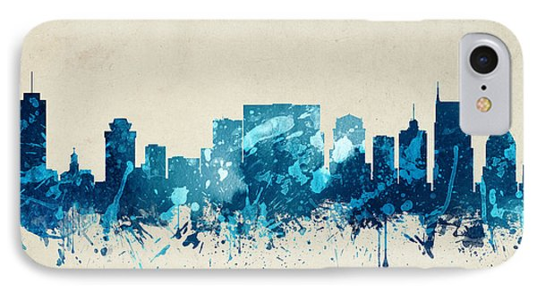 Nashville Tennessee Skyline 20 IPhone Case by Aged Pixel