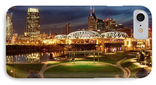 IPhone Case featuring the photograph Nashville Twilight Skyline by Brian Jannsen
