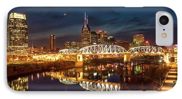 IPhone Case featuring the photograph Nashville Twilight Skyline II by Brian Jannsen
