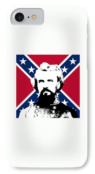 Nathan Bedford Forrest And The Rebel Flag Phone Case by War Is Hell Store