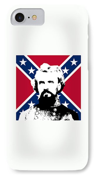 Nathan Bedford Forrest And The Rebel Flag IPhone Case by War Is Hell Store