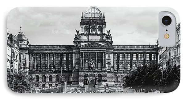IPhone Case featuring the photograph National Museum At Wenceslas Square. Prague by Jenny Rainbow