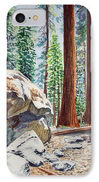 National Park Sequoia Phone Case by Irina Sztukowski