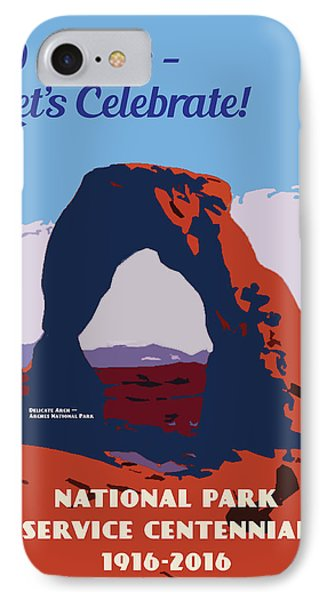 IPhone Case featuring the digital art 100 Years, National Park Service Centennial by Chuck Mountain