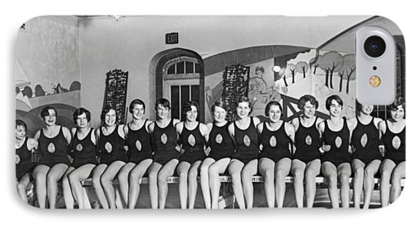 National Swimming Champions IPhone Case by Underwood Archives