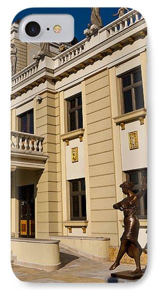 National Theater In Skopje Phone Case by Rae Tucker