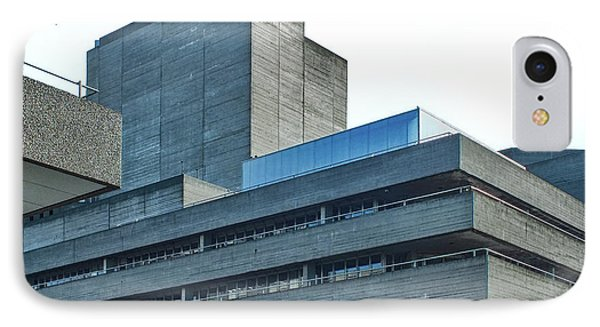 National Theatre London - Concrete Landscape IPhone Case by Philip Openshaw