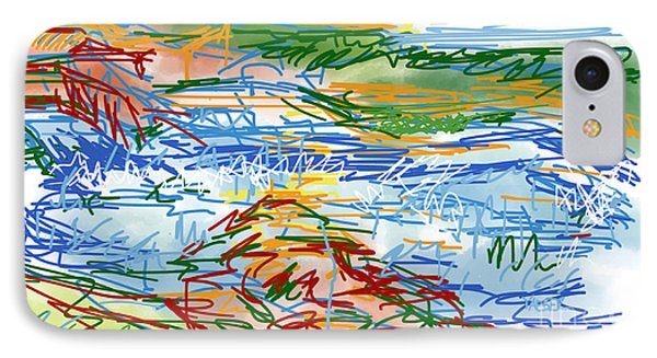 National Whitewater Center Abstract Sketch IPhone Case