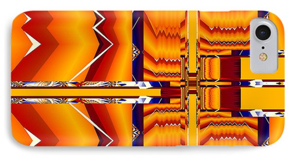 IPhone Case featuring the digital art Native Abstract by Fran Riley