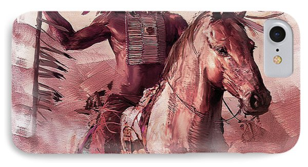 Native American 00932 IPhone Case by Gull G