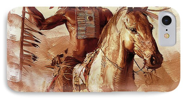 Native American 093201 IPhone Case by Gull G