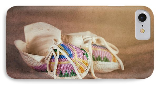 Native American Baby Shoes IPhone Case by Tom Mc Nemar