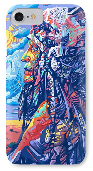 Native American Chief IPhone Case by Bekim Art