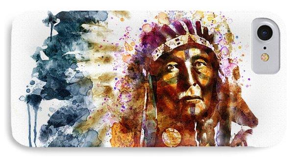 Native American Chief IPhone Case by Marian Voicu
