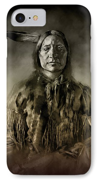 Native American Chief-scabby Bull 2 IPhone Case by Bekim Art
