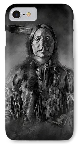 Native American Chief-scabby Bull IPhone Case by Bekim Art