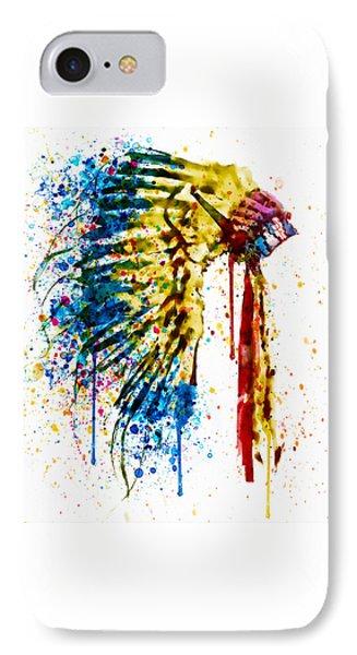 Native American Feather Headdress   IPhone Case