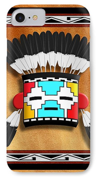 Native American Indian Kachina Mask IPhone Case by John Wills