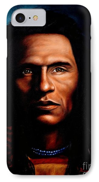 Native American Indian Soaring Eagle IPhone Case by Georgia's Art Brush