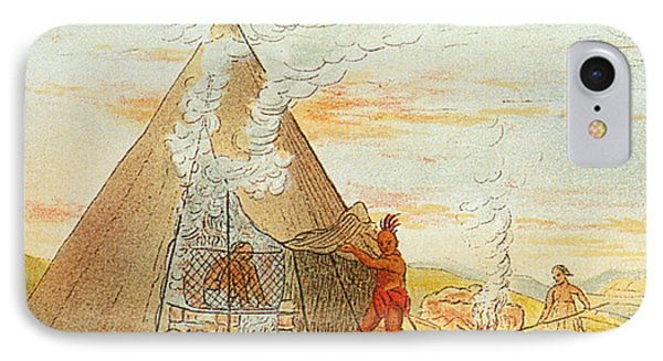 Native American Indian Sweat Lodge Phone Case by Science Source