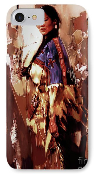 Native American Lady 03  IPhone Case by Gull G