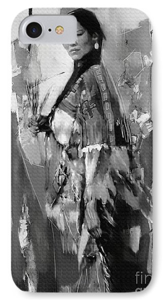 Native American Lady  IPhone Case by Gull G