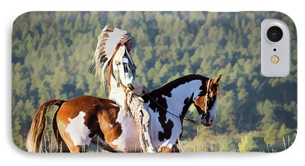 Native American On His Paint Horse IPhone Case