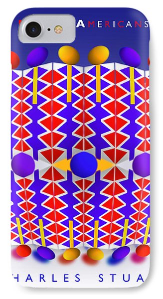 Native American Poster Phone Case by Charles Stuart