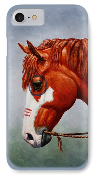Native American War Horse Phone Case IPhone Case by Crista Forest
