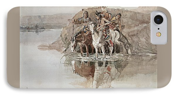 Native American War Party IPhone Case by Charles Marion Russell