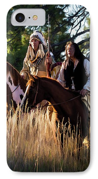Native Americans On Horses In The Morning Light IPhone Case