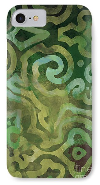 Native Elements In Green IPhone Case by Mindy Sommers