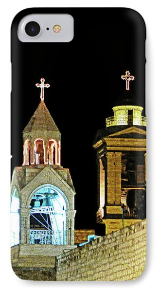 IPhone Case featuring the photograph Nativity Church Lights by Munir Alawi