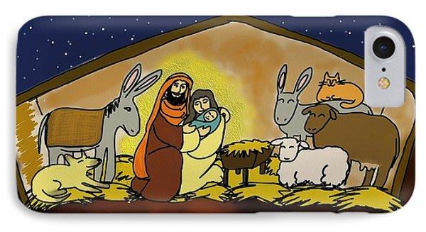 Nativity  IPhone Case by Connie Kottmann