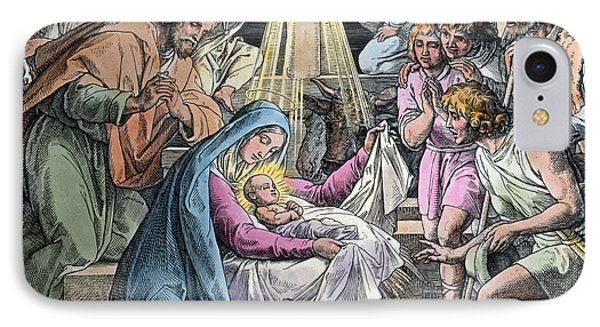 Nativity IPhone Case by Gustave Dore