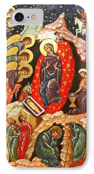 Nativity Icon IPhone Case by Munir Alawi