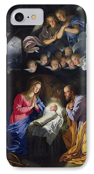 Nativity IPhone Case by Philippe de Champaigne