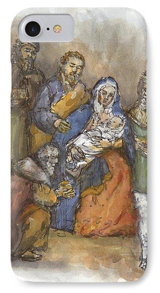 Nativity Phone Case by Walter Lynn Mosley