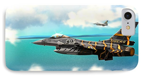 Nato Belgian Air Force 31 F16  IPhone Case by John Wills