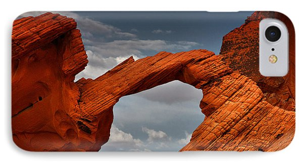 Natural Arch - Valley Of Fire - Nevada Phone Case by Christine Till