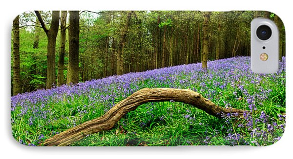 Natural Arch And Bluebells Phone Case by John Edwards