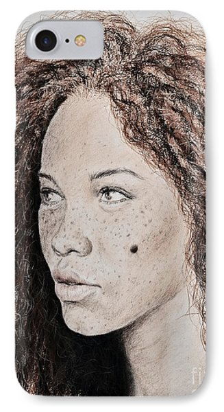 Natural Beauty With Red Hair Version II IPhone Case by Jim Fitzpatrick