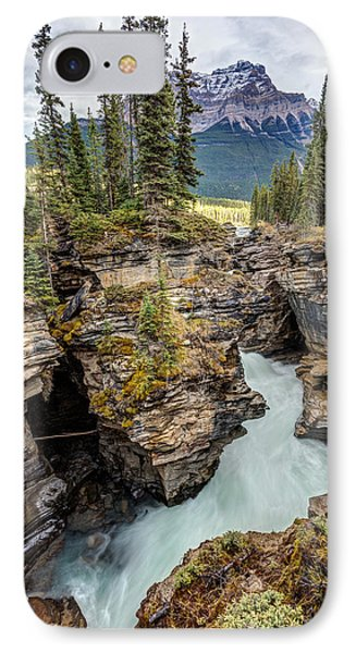 IPhone Case featuring the photograph Natural Flow Of Athabasca Falls by Pierre Leclerc Photography