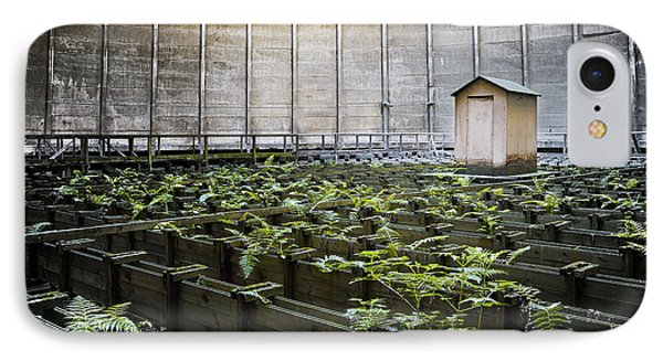 IPhone Case featuring the photograph Nature Takes Back - Inside Cooling Tower by Dirk Ercken
